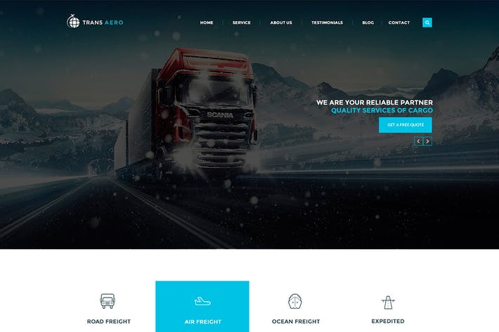 Thumbnail for TransAero - Transport & Logistics PSD Template