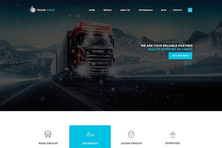 Thumbnail for TransAero - Transport & Logistics PSD Template