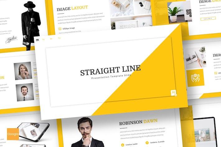 Thumbnail for Straight Line - Creative Google Slides Template
