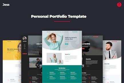 Jess -  Onepage Personal, Resume, & Portfolio