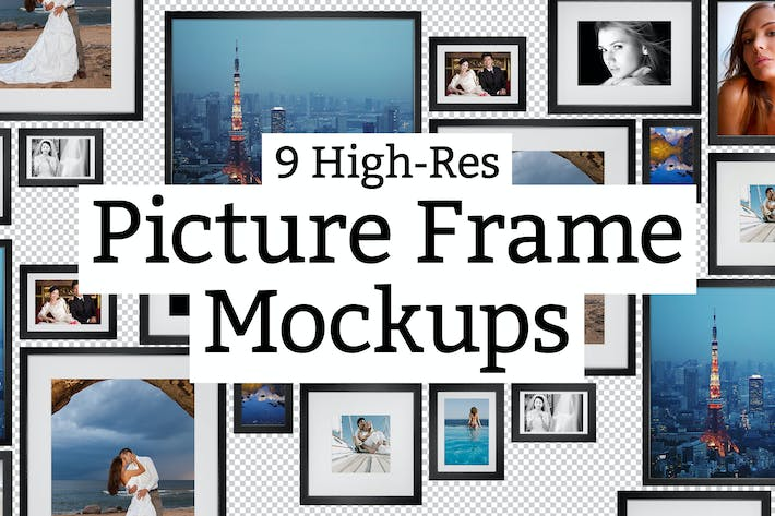 9 Picture Frame Mockups By Sparklestock On Envato Elements