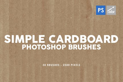 30 Pinceles de cartón simple Photoshop