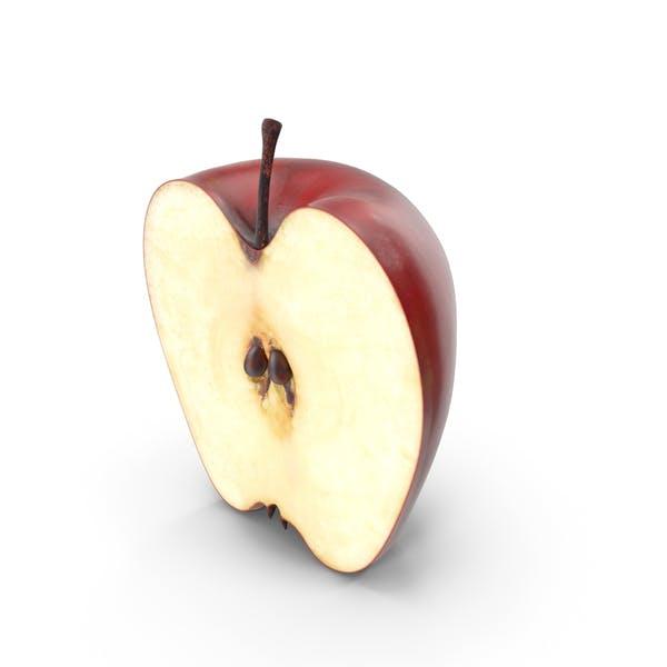 Roter Apfel Halbschnitt
