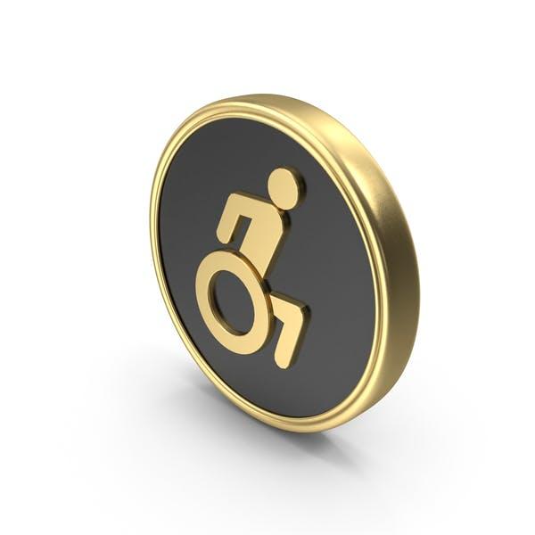 Wheel Chair Coin Symbol Logo Icon