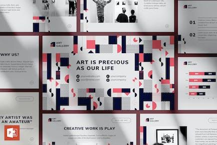 Шаблон презентации в художественной галерее PowerPoint