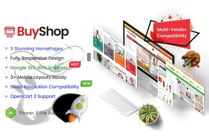 Thumbnail for BuyShop - Multi-usages OpenCart 3 Thème