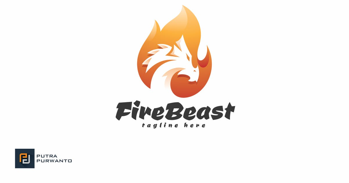 Download Fire Beast - Logo Template by putra_purwanto