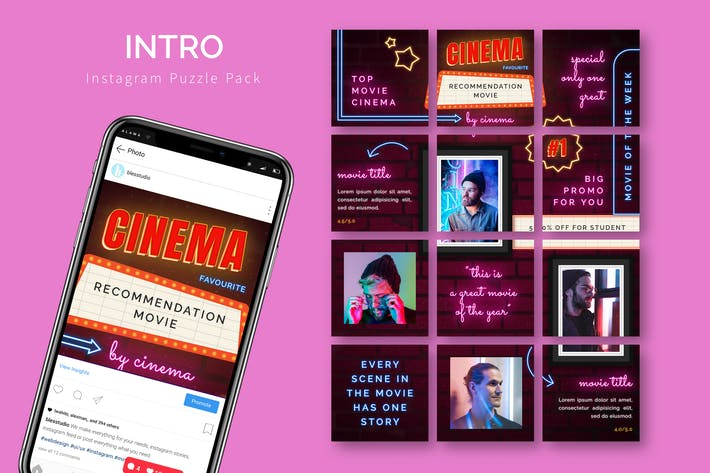 Thumbnail for Intro - Instagram Puzzle Template
