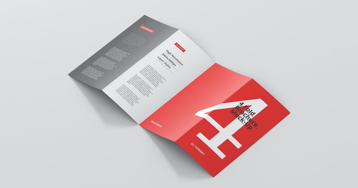Download 4-Fold Brochure Mockup - DL 99x210mm by visconbiz