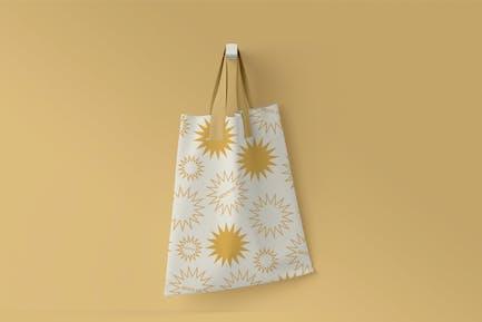 Baumwoll-Textilbeutel Mockup Ändern Sie Farben, Designs