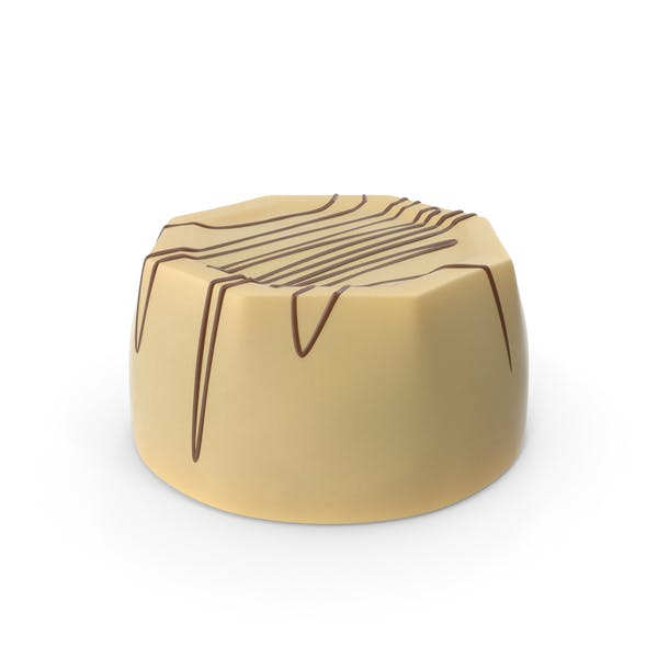 Thumbnail for Cylinder Octagon White Chocolate Candy with Chocolate Lines