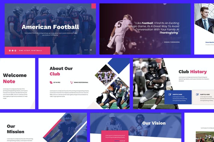 Thumbnail for American Football Powerpoint Template
