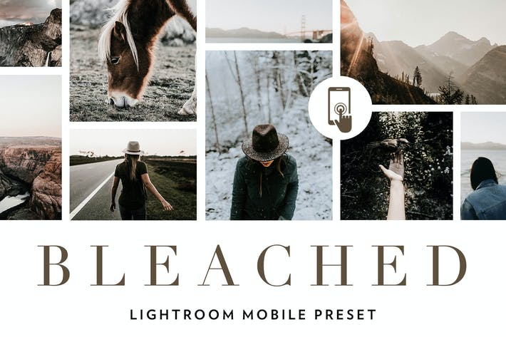 Thumbnail for Bleached Lightroom Mobile Presets