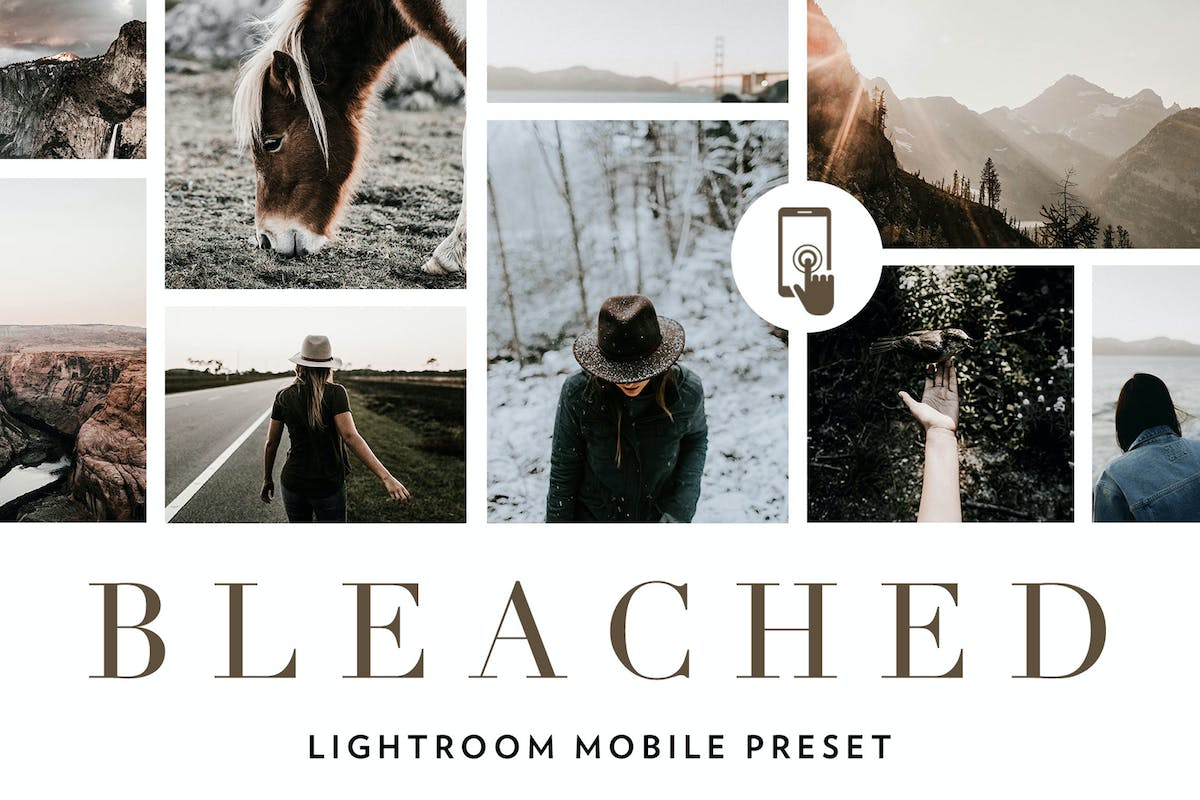 Bleached Lightroom Mobile Presets by 2FX on Envato Elements