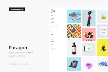 Paragon Lite - Colorful Portfolio WordPress Theme