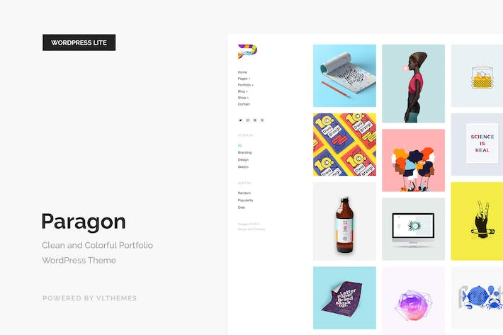 Thumbnail for Paragon Lite - Colorful Portfolio WordPress Theme