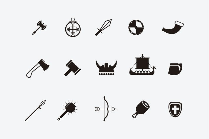 Thumbnail for 15 Viking Icons and Symbols