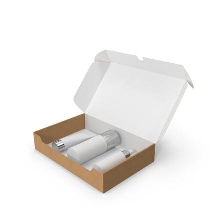Set de cosméticos en una caja