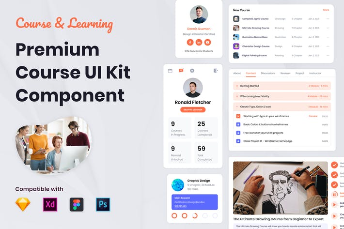 Thumbnail for Nuzie - Course UI Kit