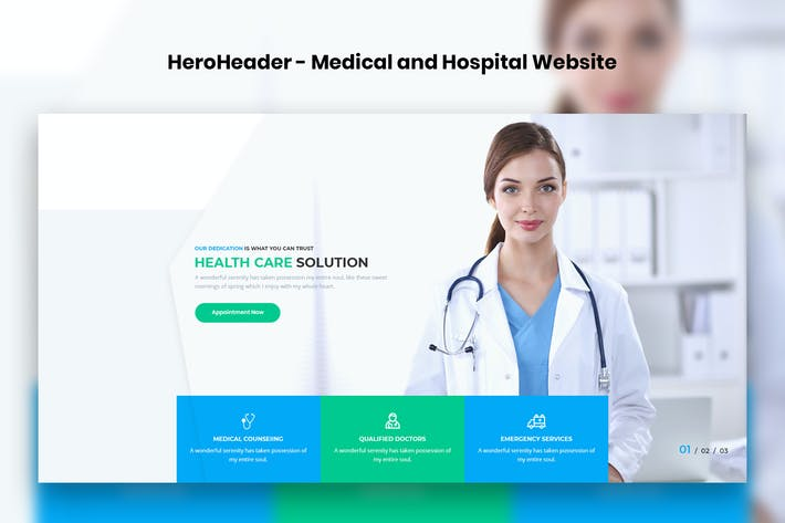 Thumbnail for HeroHeader for Medical & Hospital Websites-09