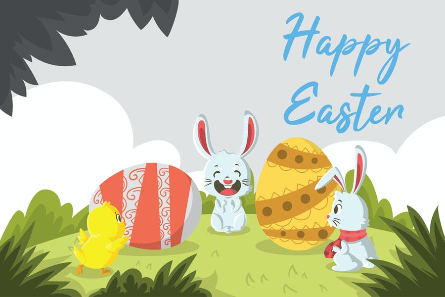 Easter Day - Vector Illustration