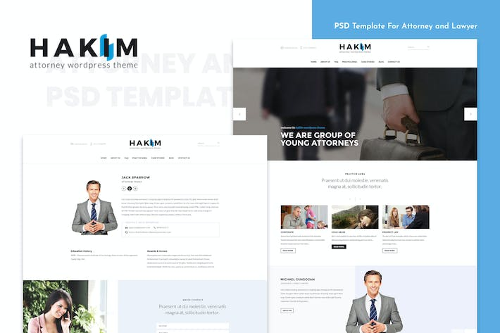 Thumbnail for Attorney and Lawyer PSD Template - Hakim