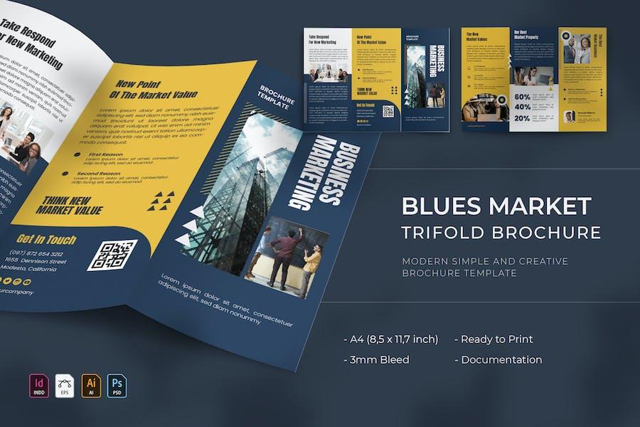 Blues Market | Trifold Brochure