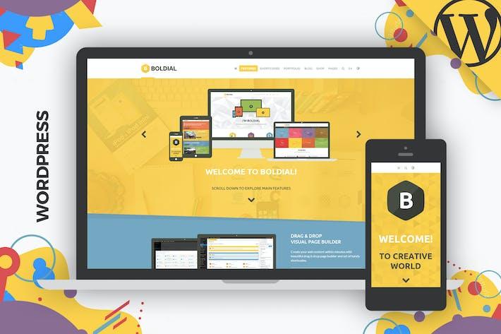 Thumbnail for Boldial WP - Flat Creative Theme with 3D Portfolio