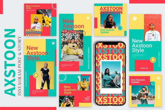 Axstoon - Instagram Post & Story Templates
