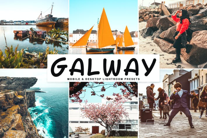 Thumbnail for Galway Mobile & Desktop Lightroom Presets