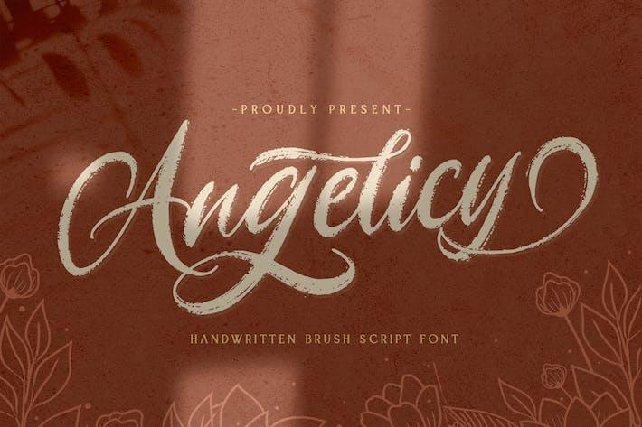 Angelicy - Текстурированный шрифт кисти