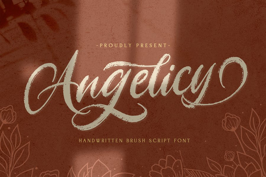 Angelicy - Textured Brush Font