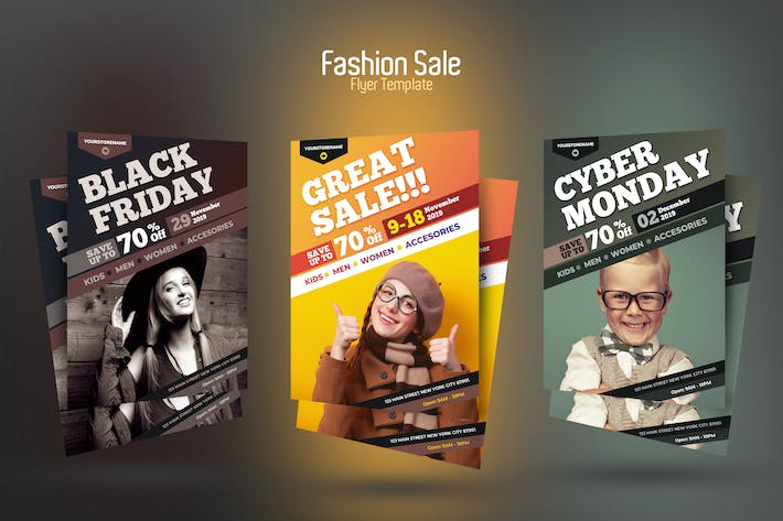 Cover Image For Fashion Sale Flyer Template