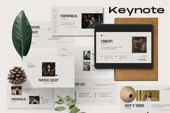 Thumbnail for Papiere Goldy Business Plan Keynote