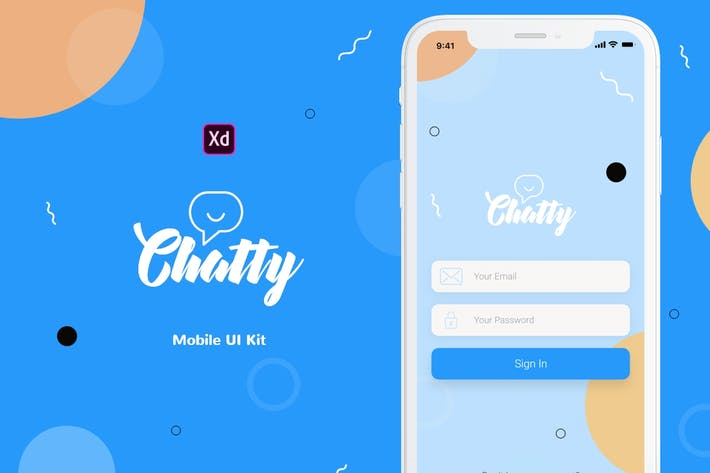 Thumbnail for Chatty Mobile UI Kit