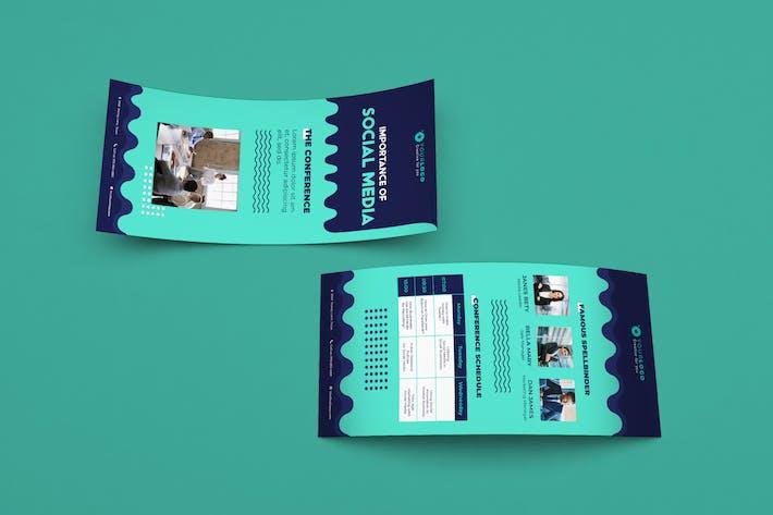 Thumbnail for Событие конференции DL Rackcard Illustrator Шаблон