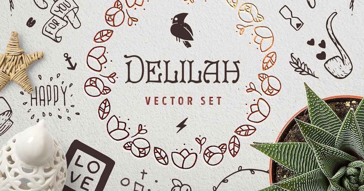 Download Delilah – Hand Drawn Vector Set by Oxana-Milka