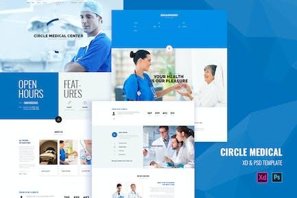 Circle Medical - Medical landing page template