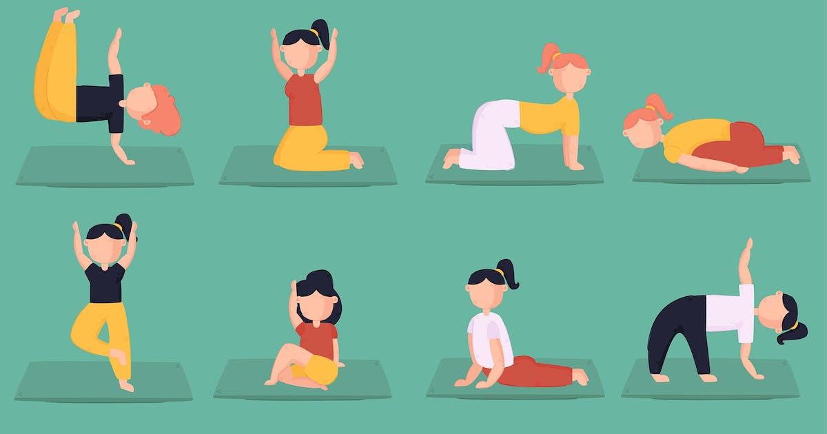 Download Yoga Illustration Vector by april_arts