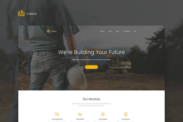 Thumbnail for Cobuild - Construction Landing Page Html Template