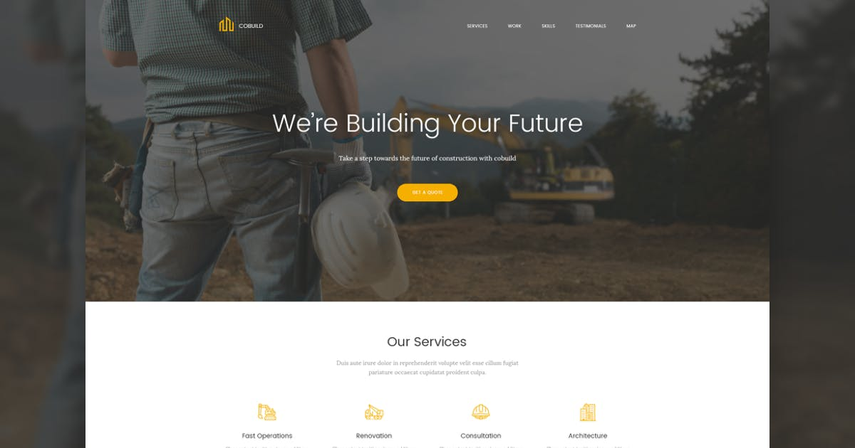 Download Cobuild - Construction Landing Page Html Template by zytheme