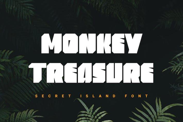 Monkey Treasure | heavy font