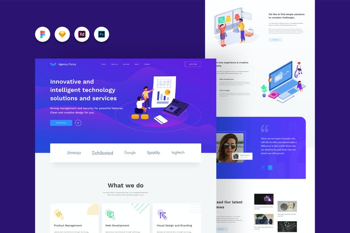 Thumbnail for Agency Force 02 - Company Profile Website Template