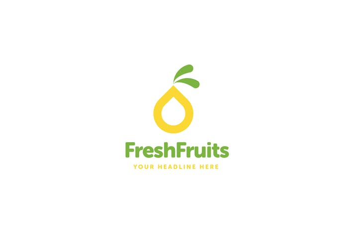 Thumbnail for Fresh Fruits Logo Template