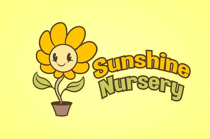 Thumbnail for Cartoon Sunflower Mascot Logo