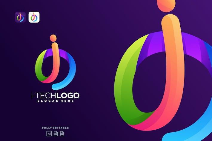 Thumbnail for Colorful Tech Logo Letter I Technology