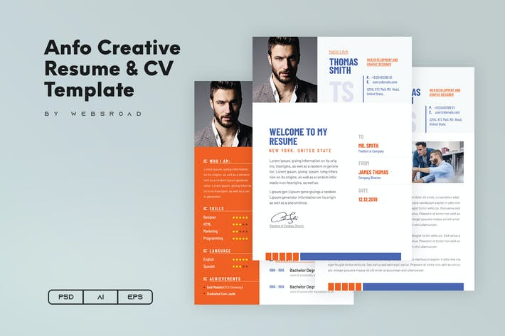 Thumbnail for Anfo | Creative Resume & CV Template