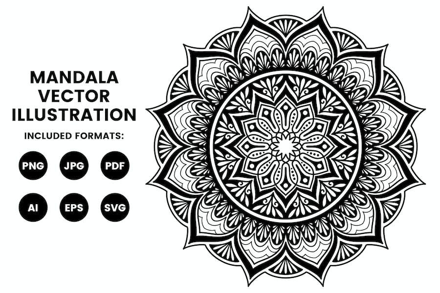 Mandala Illustration - Coloring Pages