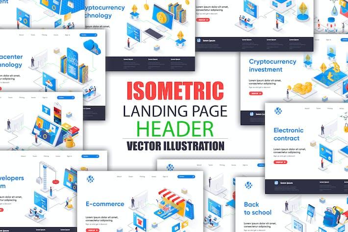 Thumbnail for Шаблон Изометрической целевой страницы большой Коллекция