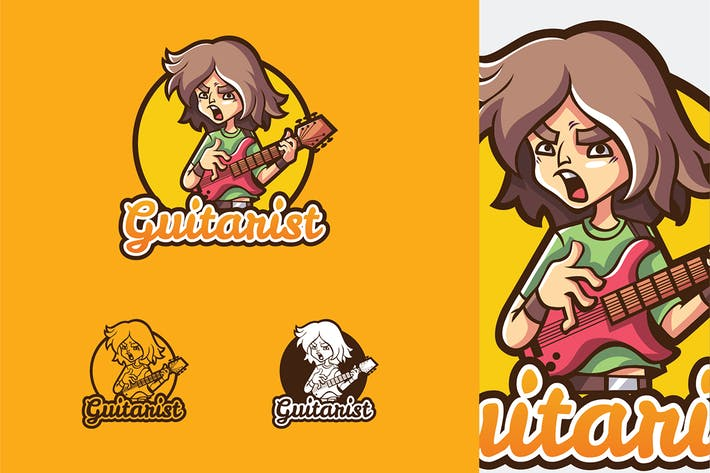 Thumbnail for Guitarist - Mascot & Esport Logo